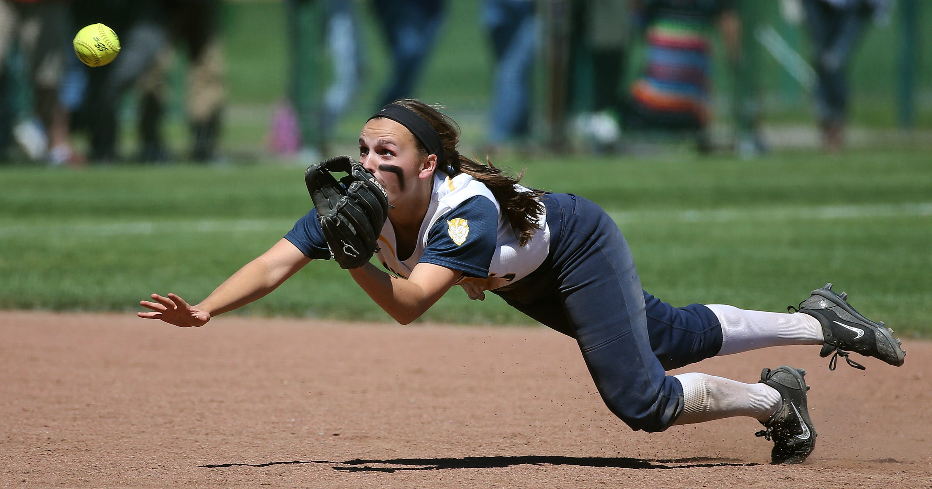 Softball players at Kearney, Victor and Elba are first team