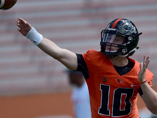 Darell Garretson, who redshirted last season after transferring from Utah State, likely will be OSU's starting quarterback this season.