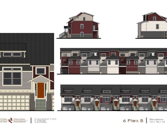 Townhomes at Cove at Kettlestone will have separate