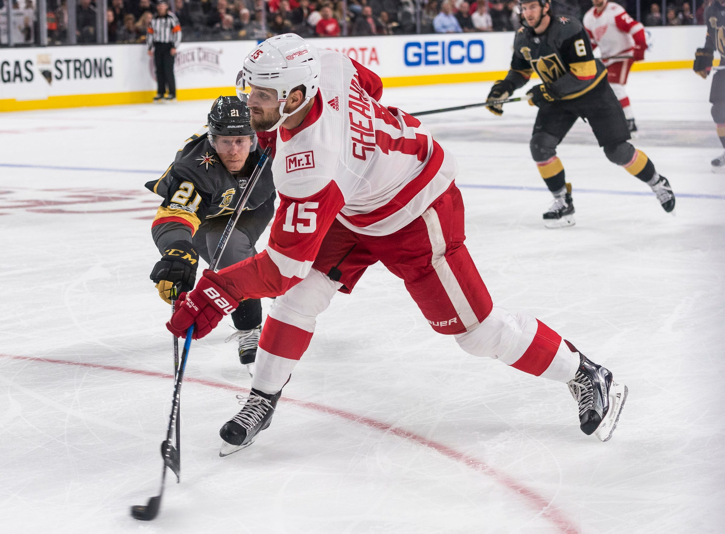 Red Wings trade Riley Sheahan to make