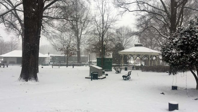 As this scene from Collierville Square attests, this is a good day for all of us to put our slippers back on and drink cocoa together.