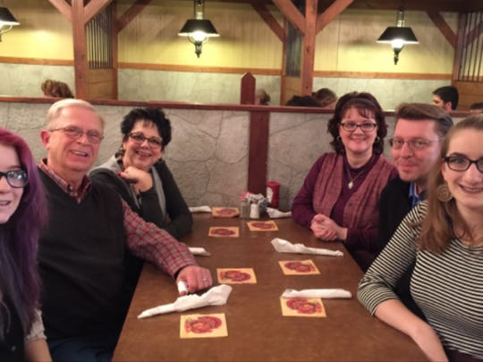 The Merrill family made a tradition of going out to dinner on Saturday nights.