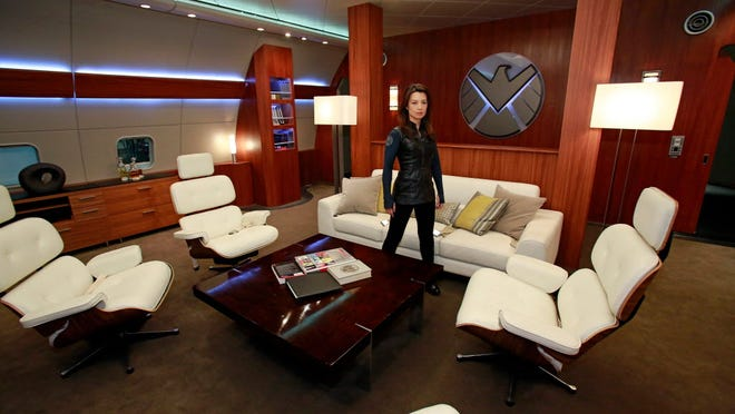 Ming-Na Wen shows USA TODAY around the plane set of 'Agents of 'S.H.I.E.L.D.'