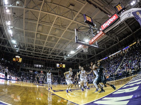 Northern Iowa opened up its Panther Patio, which sells alcoholic beverages at McLeod Center basketball games, to all fans of legal age for the first time this past season. UNI athletic director David Harris said the immediate response has been positive, although it's too early to tell what revenue benefits the university may have experienced.
