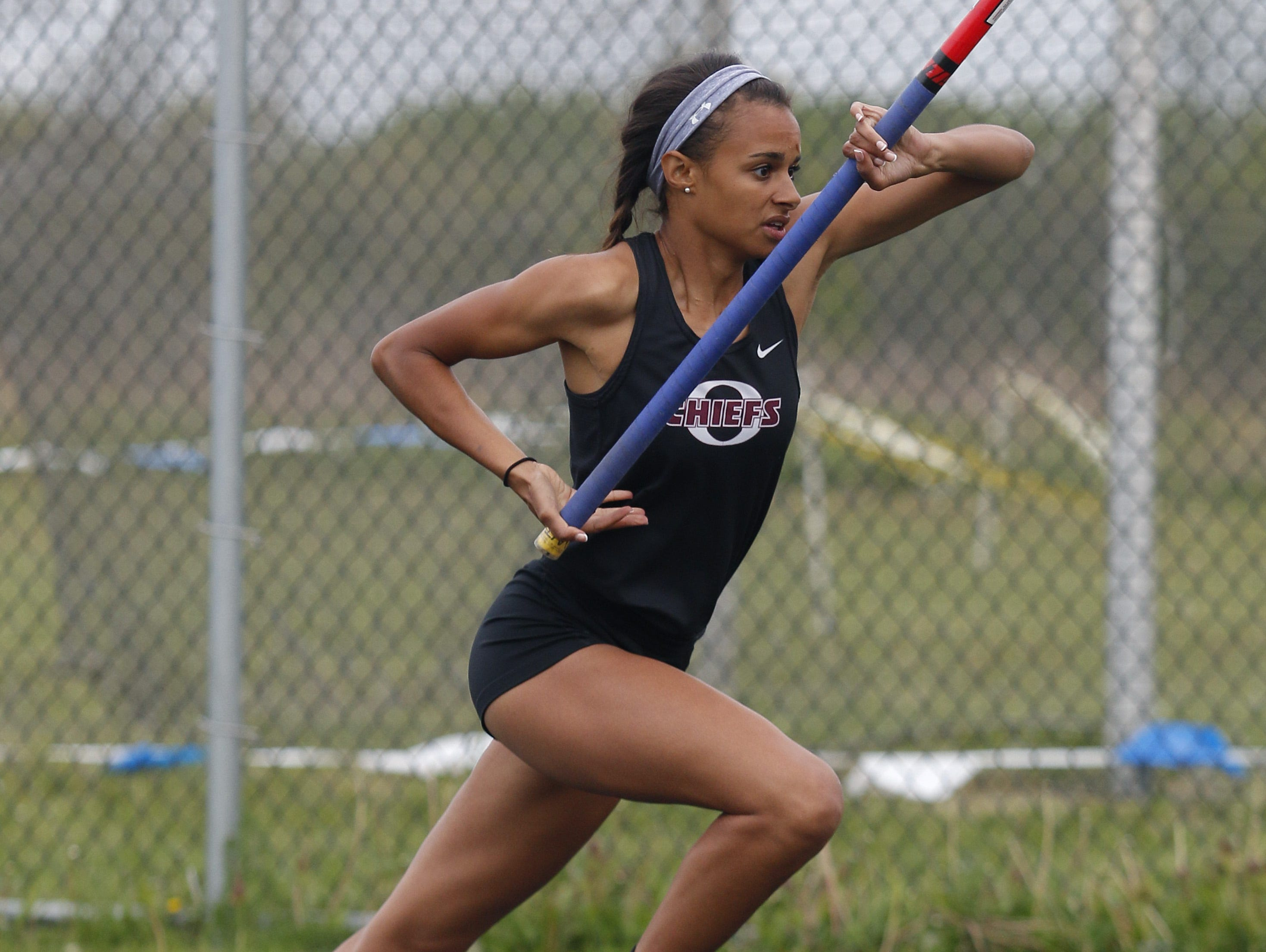 Okemos senior Sophia Franklin recently signed with Michigan State's track and field program.