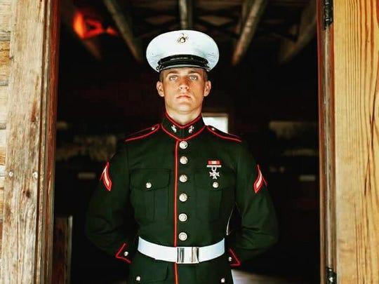Marine Lance Cpl. Austin Ruiz, who was killed Friday,