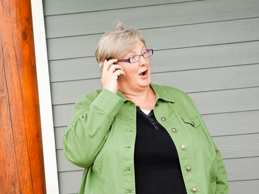 Mature Woman on Cell