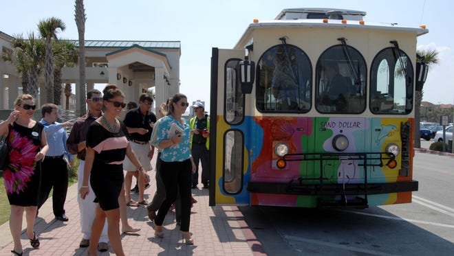 Over the Memorial Day weekend, Escambia County Area Transit will launch its new, free beach trolley system.