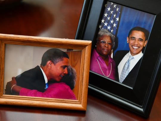 Alberta Wilson's treasured photos includes those taken when then-candidate Barack Obama was in Titusville, a visit in which she played a part. Wilson, of Rockledge, is the second-ever recipient of the Lifetime Achievement Award from the Central Brevard NAACP, an honor recognizing years of community and NAACP support.