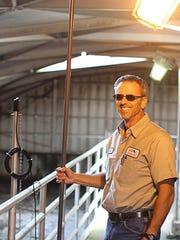 Northwest Water Reclamation Plant operator Brian Innis