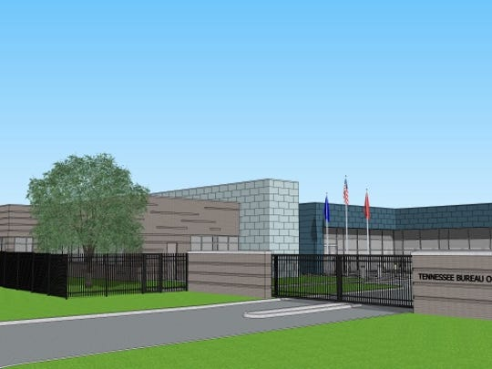 Rendering of the TBI Crime Lab to be built in Jackson.