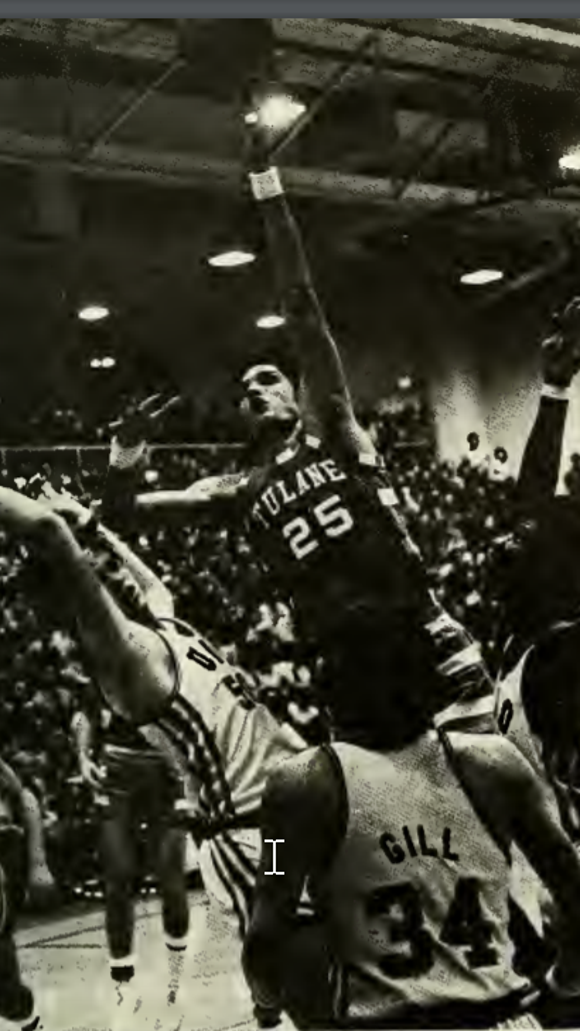 Sen. Luther Strange played center for the Tulane Green Wave men's basketball team in the early 1970s.
