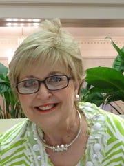 Martha Jane Anderson at Potpourri Book Club meeting.