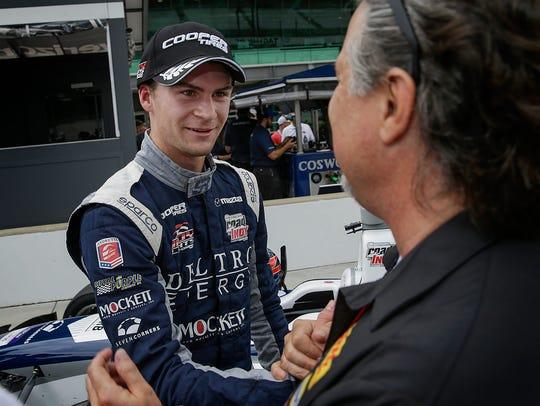 Andretti Steinbrenner Racing driver Colton Herta celebrates