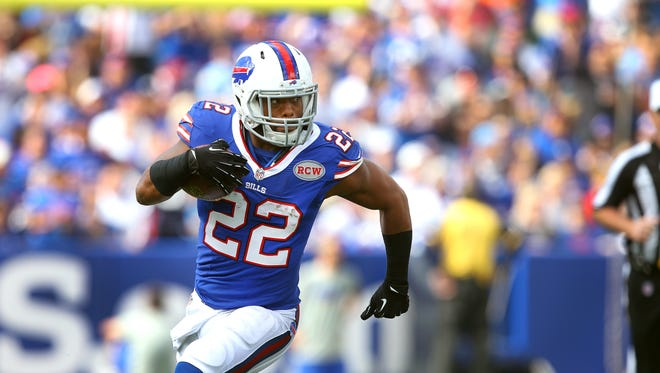 Bills RB Fred Jackson looks to get outside.