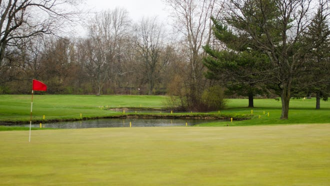 A hole at Crestview Golf Course, seen on Friday, April 8, 2016.