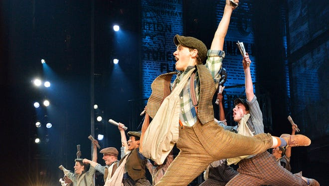 Morgan Keene (Katherine) and Newsies. North American Tour company of Disney's NEWSIES.