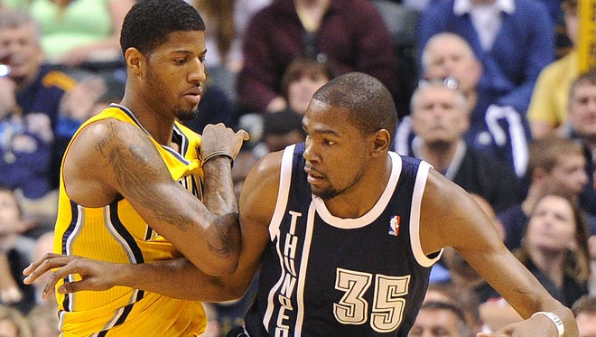 The Pacers will face MVP-candidate Kevin Durant in Sunday's matchup against Oklahoma City.