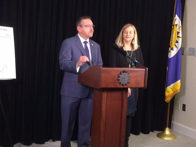 Tennessee Housing and Development Agency Executive Director Ralph Perrey and Nashville Mayor Megan Barry announce details of THDA's homebuyer assistance program.