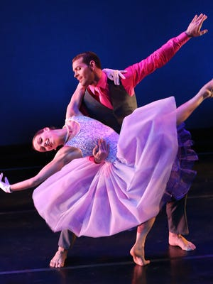 """Dancers Caitlin Negron and Timothy June perform in Act 1 of """"Ella."""""""