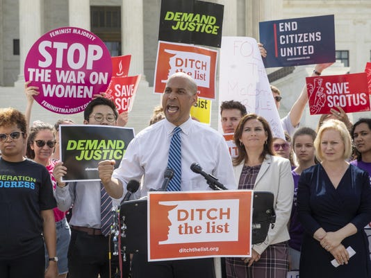 Cory Booker, Ilyse Hogue, Kirsten Gillibrand