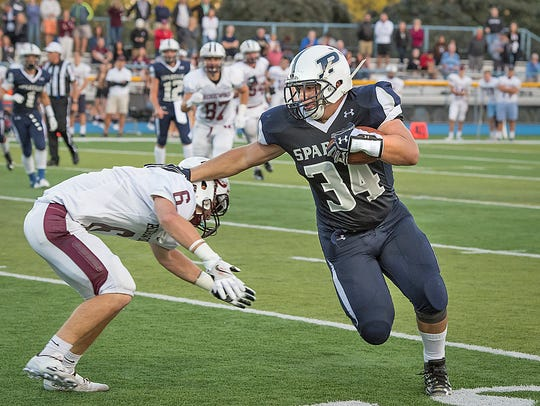 Paramus running back Matt Amato (34).