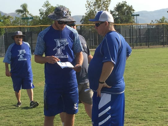 First-year Fillmore High football coach Corey Cole,