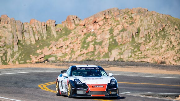 7 breathtaking photos of ex-MLB pitcher's sports car race on Pikes Peak