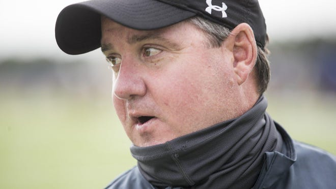 Lampasas coach Troy Rogers led the Badgers to a 55-23 season-opening win over Brownwood Friday.