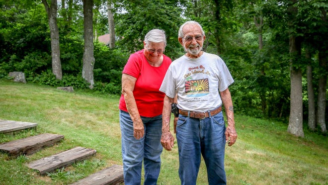 Jay and Barbara Sciola at their South Kingstown home.