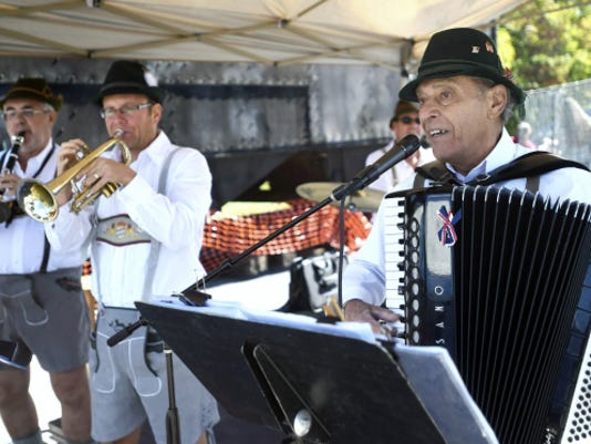 The Happy Wanderers play during Oktoberfest in Chambersburg on Saturday, October 4, 2014.