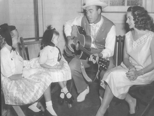 The Hortons late 1950s: Jeri and Yanina Horton listen