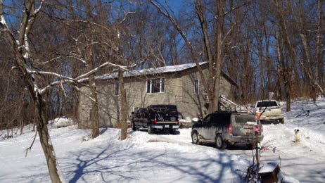The house in the Meskwaki Settlement where Gordon Lasley Sr. and Kim Lasley were found dead.