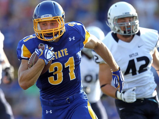 Zach Zenner breaks loose for a touchdown with South Dakota State in 2013.