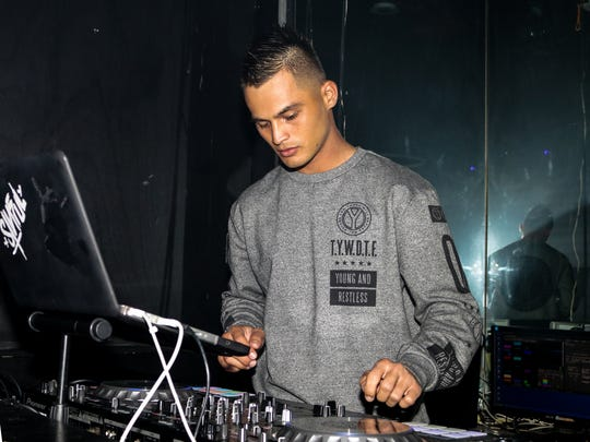 Ashton Surber, DJ Sinful, gets the crowd going on July 28 at The W in Tumon.