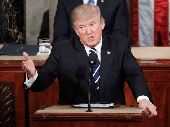President Trump addresses a joint session of Congress