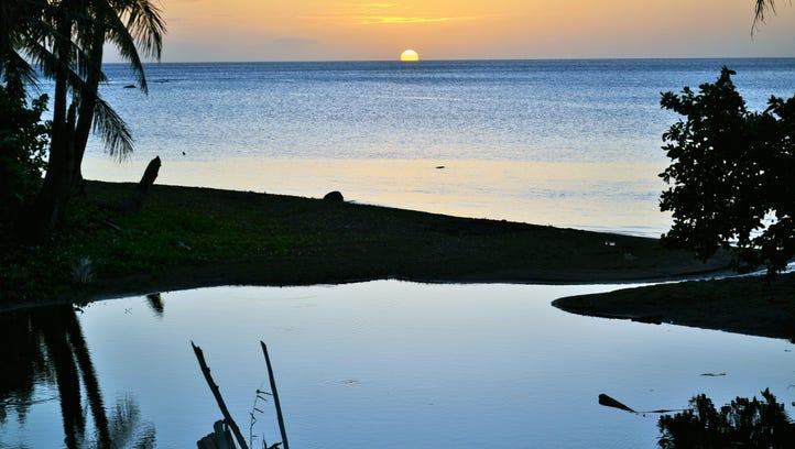 Frankie Casil II shares a photo of a Guam sunset shot