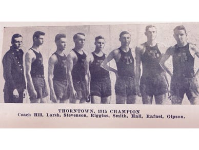 The 1915 Thorntown High School boys basketball team was the Indiana state champion.
