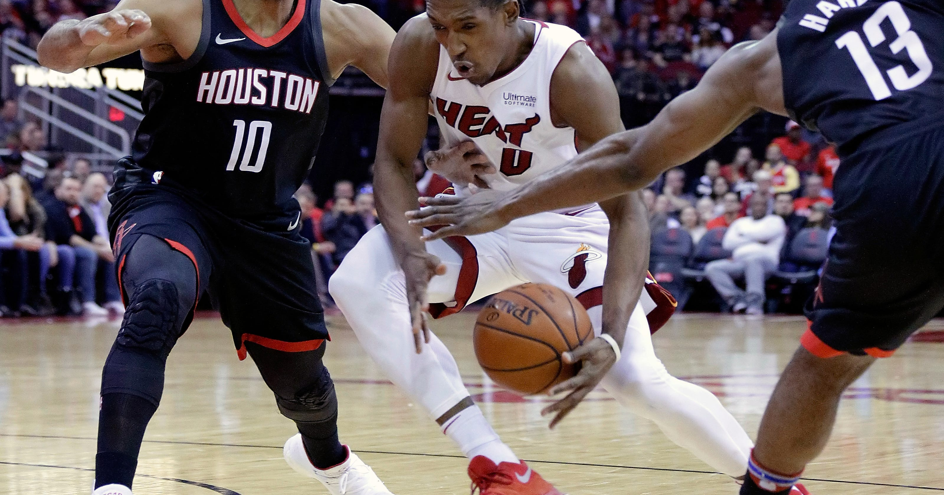 861182a79db8 Harden s 28 help Rockets rally for 99-90 win over Heat