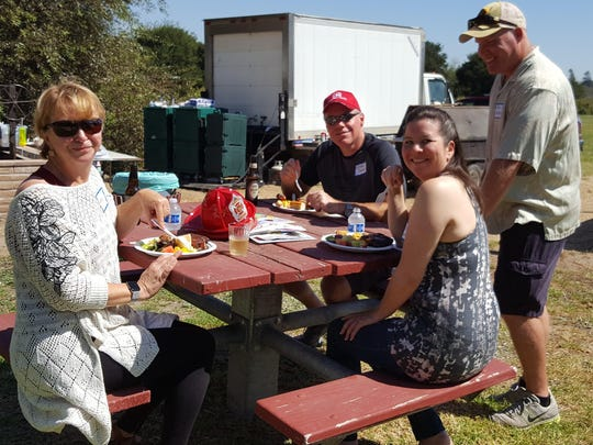 Sunny weather, friends and catered picnic lunch at Indian Springs