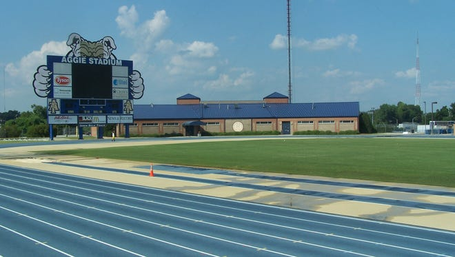 The North Carolina A&T track.