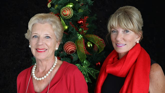 Lynne Calderwood and Tracie Cada are co-chairs of the Lights on the Lagoon, A Winter Wonderland fundraiser.