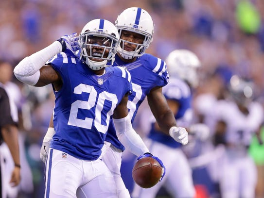 Colts cornerback Darius Butler (20) easily switched