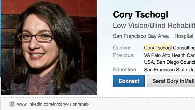 Cory Tschogl's LinkedIn page. She says renters of her Palm Springs, Calif., vacation home overstayed their agreement and are now squatting.