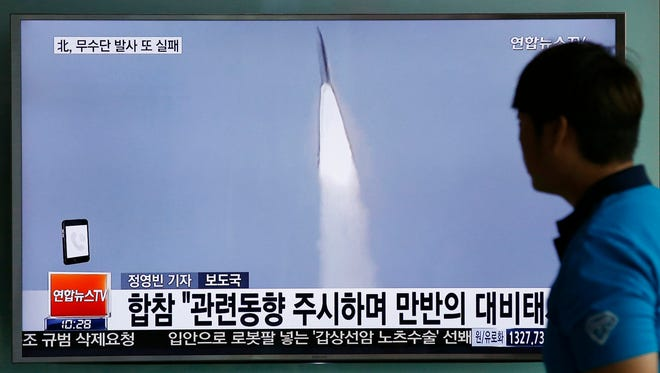 In Seoul, South Korea, watching a North Korean missile launch in May 2016.