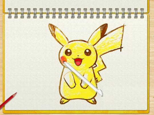 Naturally, you can learn how to draw Pickachu in Pokemon