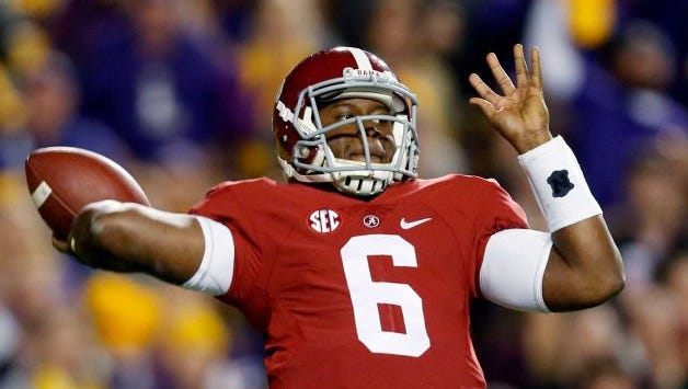 ESPN's First Take personalities Stephen A. Smith and Skip Bayless predicted Blake Sims and the Alabama Crimson Tide will beat Auburn in Saturday's Iron Bowl at Bryant-Denny Stadium.
