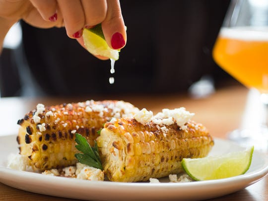 Roasted corn is on the menu at The Kitchen and similar to the kinds of dishes that will be served at Hedge Row, coming in summer 2017 to Mass Ave. in Downtown Indianapolis. Both restaurants are owned by The Kitchen Restaurant Group co-founded by Kimbal Musk.