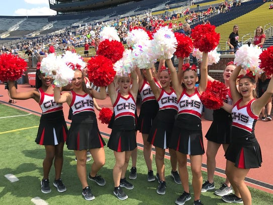 Canton's pom squad gets into the spirit before the