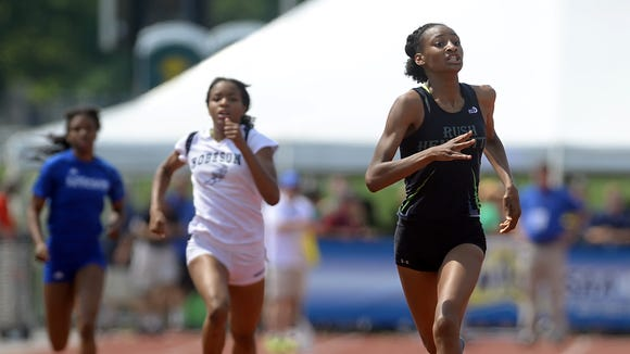 Rush-Henrietta's Sammy Watson, right at the 2015 high